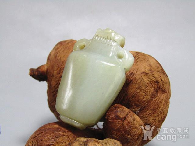 清 和田玉挂糖色 宝瓶 挂件 包浆醇厚图3