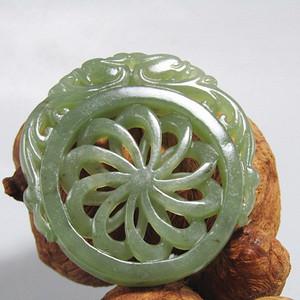 清和田玉 双面 拉丝工艺 双龙佩 玉质熟润包浆醇厚