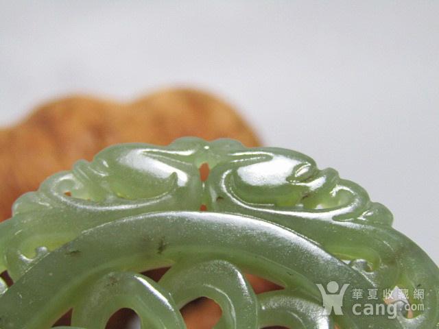 清和田玉 双面 拉丝工艺 双龙佩 玉质熟润包浆醇厚图5
