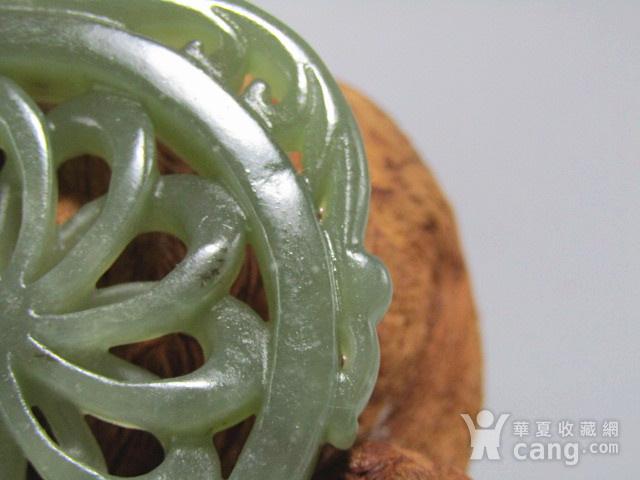 清和田玉 双面 拉丝工艺 双龙佩 玉质熟润包浆醇厚图10
