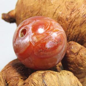 唐红玛瑙珠 大珠 包浆熟厚