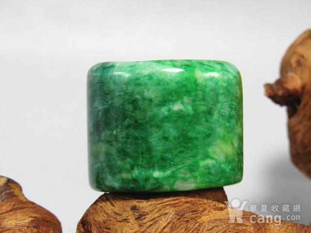 老坑 翡翠 满绿 扳指 翠色特别漂亮图3