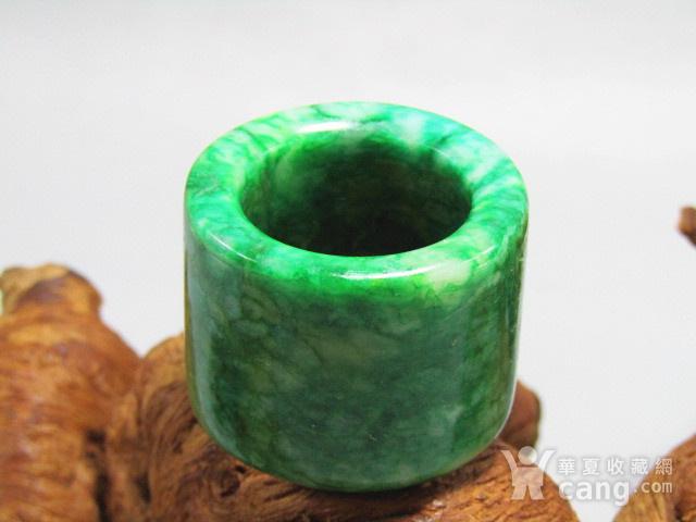 老坑 翡翠 满绿 扳指 翠色特别漂亮图2
