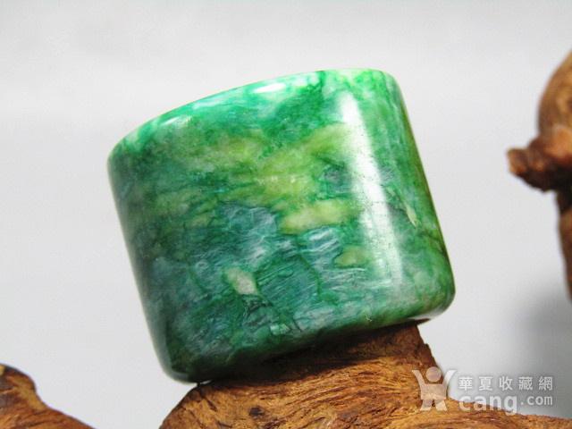 老坑 翡翠 满绿 扳指 翠色特别漂亮图4