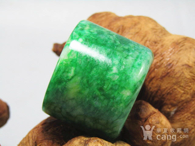 老坑 翡翠 满绿 扳指 翠色特别漂亮图5