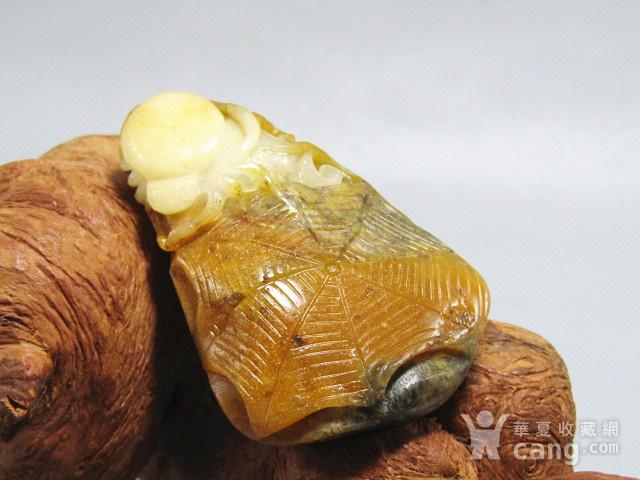 和田乌鸦皮籽料 巧雕 知足常乐图2