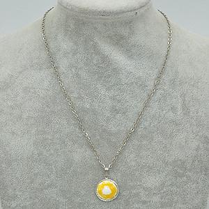 9.5克镶瓷坠项链