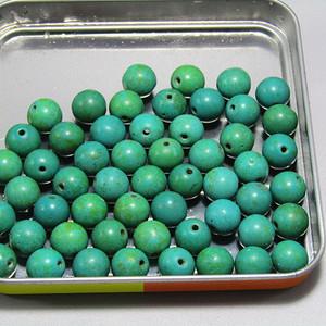 有些年份原矿高瓷高兰松石 珠 50多粒