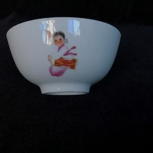文革人物茶碗