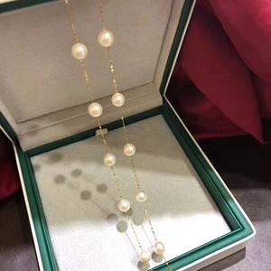 天然珍珠项链假一赔万送国检证书18k金链