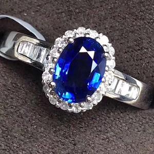 天然斯里兰卡蓝宝石戒指送国检证书