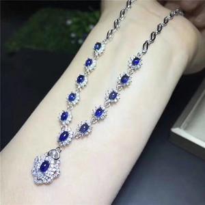 天然斯里兰卡蓝宝石项链假一赔万