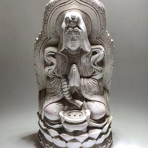 出口创汇 时期 白瓷 观音大士 坐像 手工打造