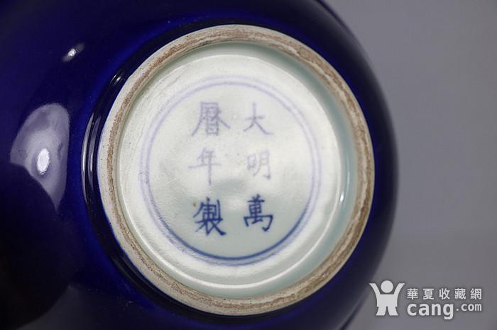 老万历款霁蓝大碗图3