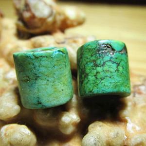 开门到代 遼金时期 绿松石 对珠 包浆老道 匹壳熟润 难得成对