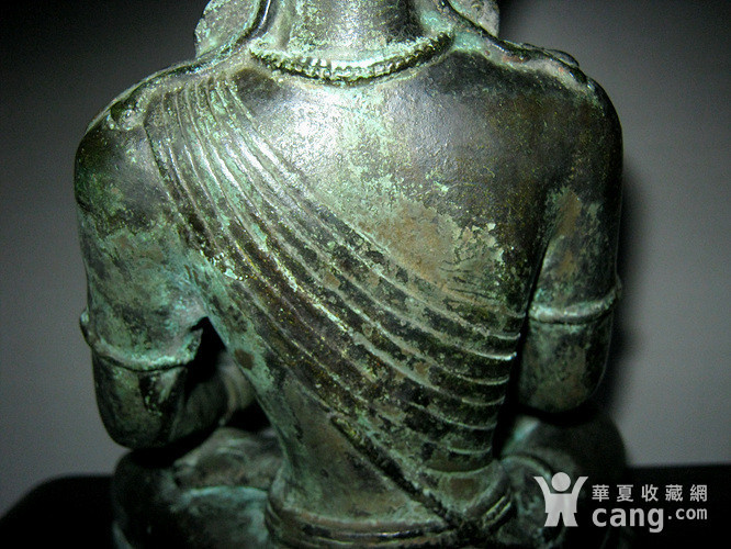 回流清代藏传大型铜佛图8