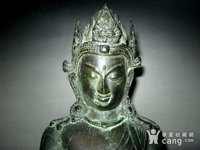 回流清代藏传大型铜佛图5