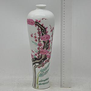 70 80年代手绘粉彩瓷瓶