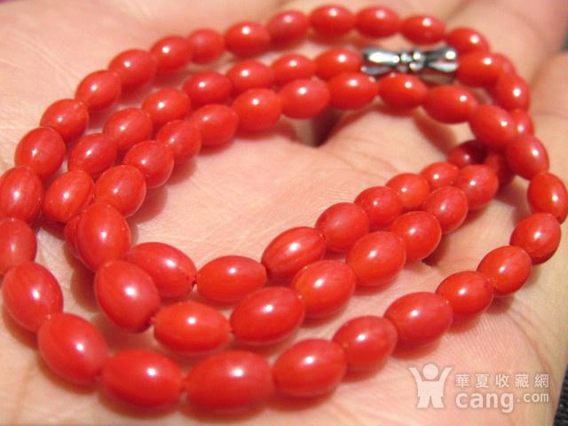 小有年头 天然 红珊瑚 挂链图3