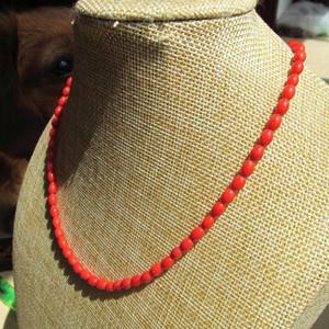 小有年头 天然 红珊瑚 挂链