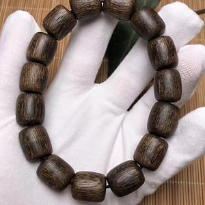 联盟 越南黄土沉沉香桶珠手链香中极品味道一流野生天然老料