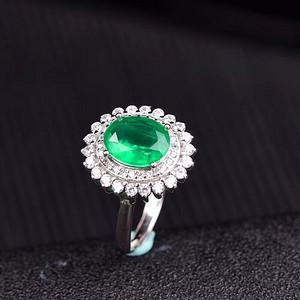 联盟 爆款哥伦比亚祖母绿戒指