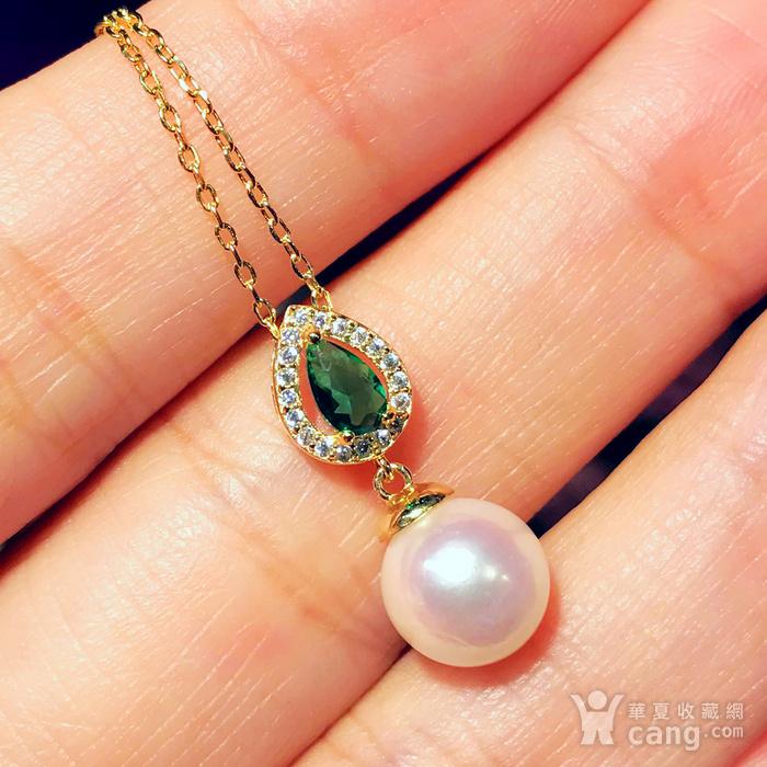 日本AKOYA海水珍珠完美正圆樱花粉虹光天然珍珠精致锁骨项链!图11