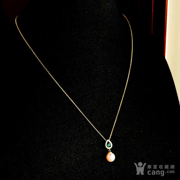 日本AKOYA海水珍珠完美正圆樱花粉虹光天然珍珠精致锁骨项链!图10