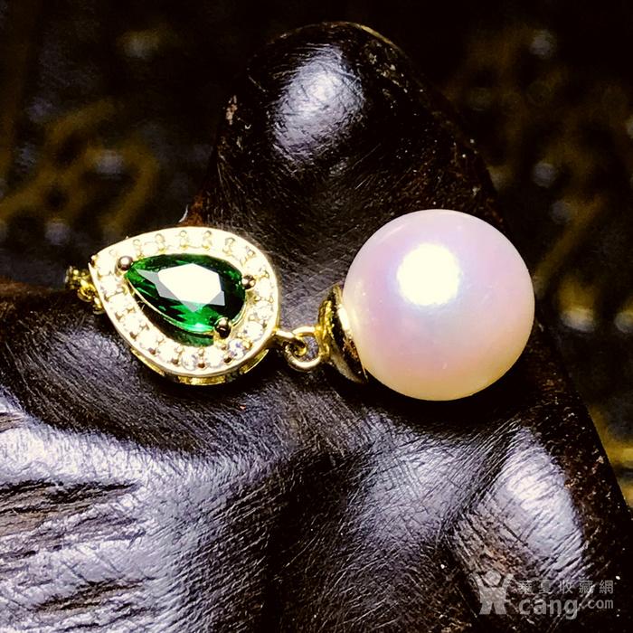 日本AKOYA海水珍珠完美正圆樱花粉虹光天然珍珠精致锁骨项链!图3