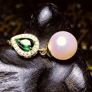 日本AKOYA海水珍珠完美正圆樱花粉虹光天然珍珠精致锁骨项链!