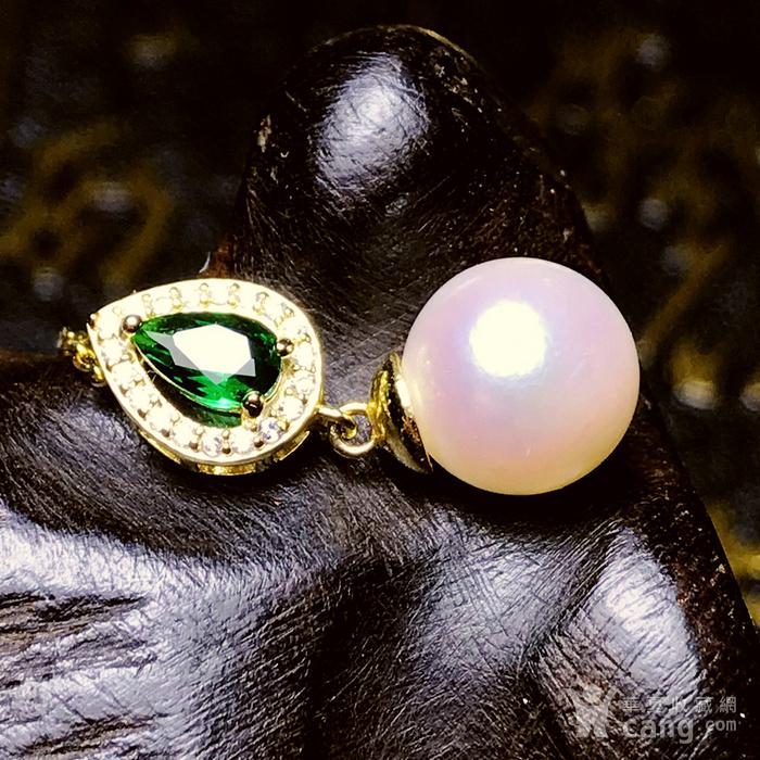 日本AKOYA海水珍珠完美正圆樱花粉虹光天然珍珠精致锁骨项链!图1