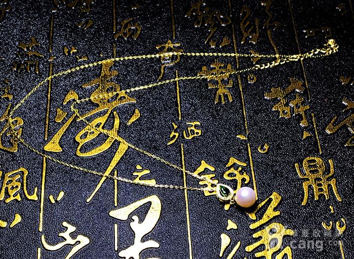 日本AKOYA海水珍珠完美正圆樱花粉虹光天然珍珠精致锁骨项链!图8