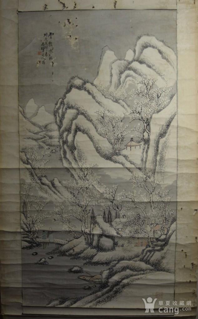 老画,雪后寒林图图2
