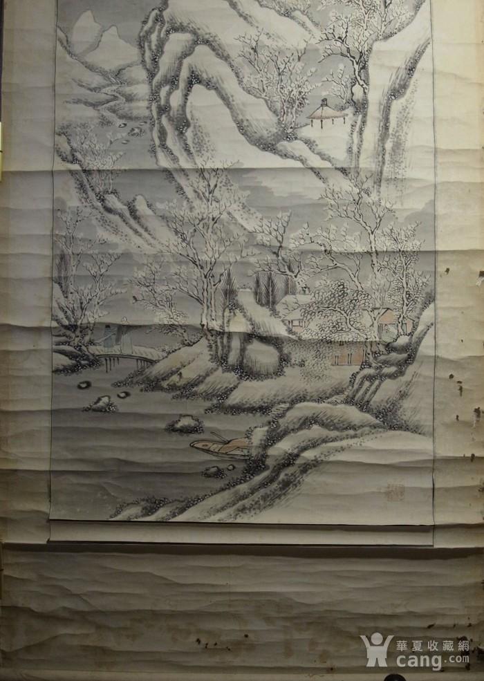 老画,雪后寒林图图1