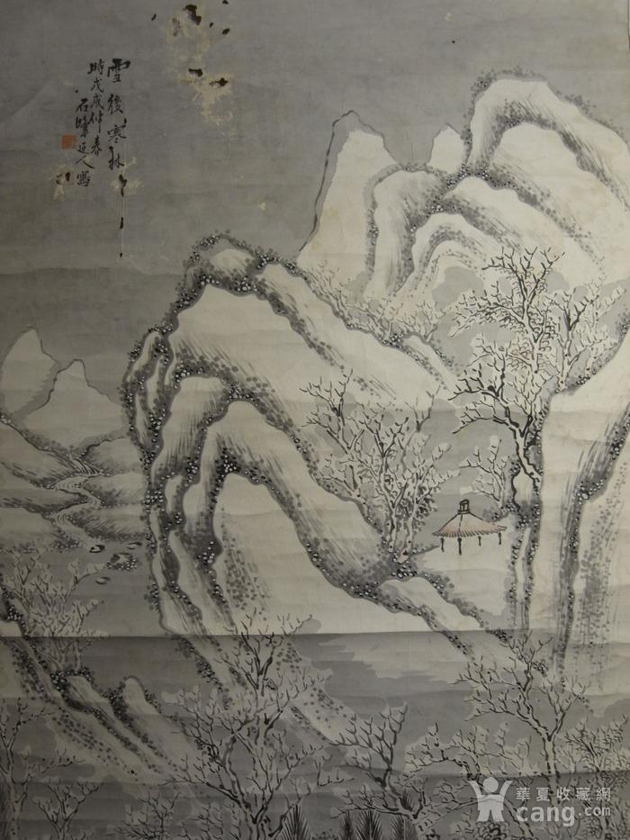 老画,雪后寒林图图4
