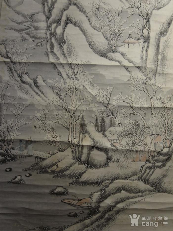 老画,雪后寒林图图5