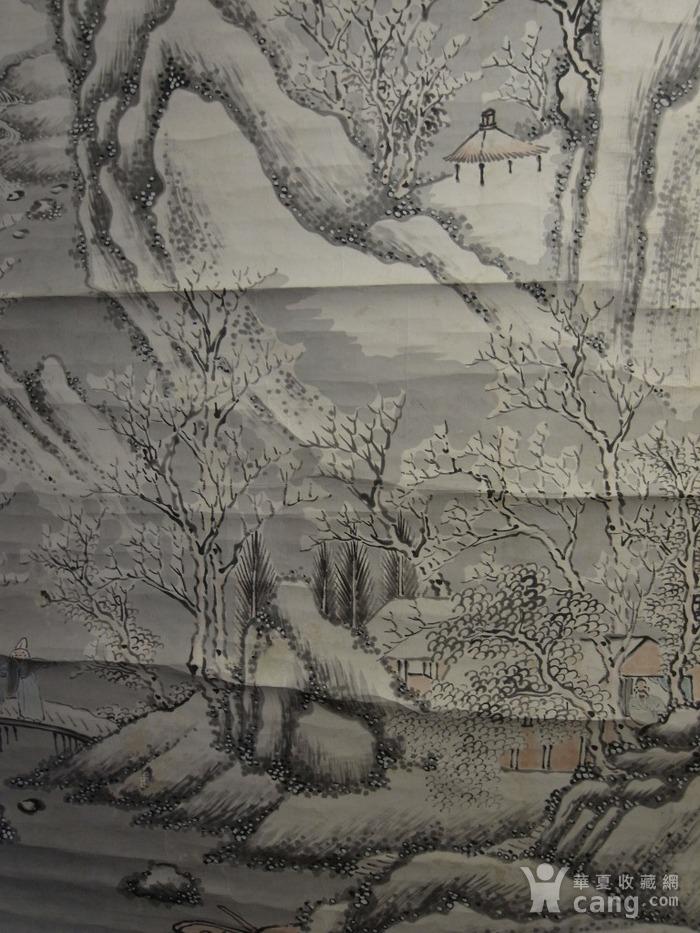 老画,雪后寒林图图6