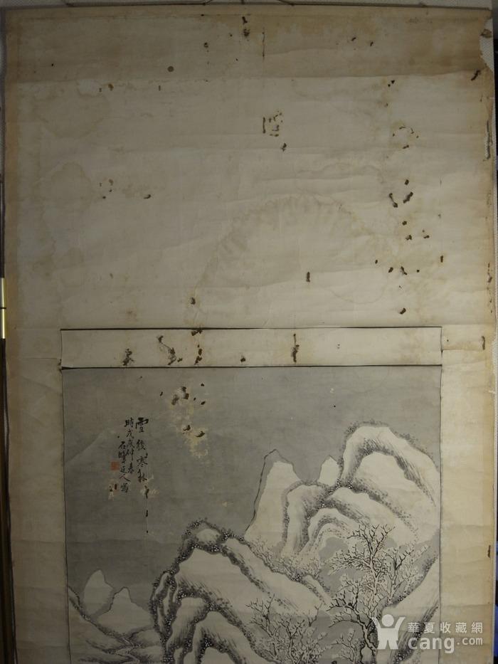 老画,雪后寒林图图8