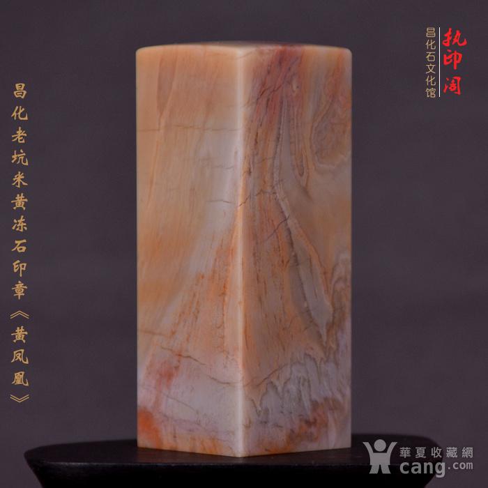 昌化老坑米黄冻石印章《黄凤凰》图8