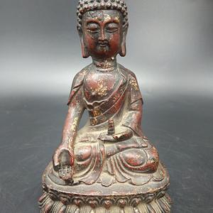 清代铜镏金佛像