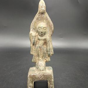 老青铜佛像摆件