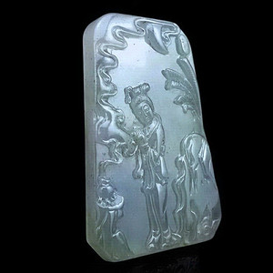 精品 40.51克冰种四大美人套牌大花件之貂蝉拜月