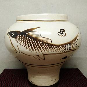 联盟 磁州窑鱼罐