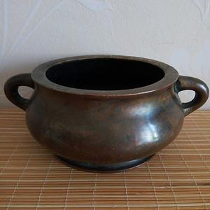 联盟 清中期铜香炉