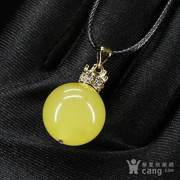 > 蜜蜡圆珠吊坠7819   【晶晶饰品】温馨提示: 1,请不要把天然玉石的