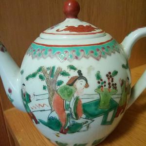 联盟 民国粉彩人物茶壶