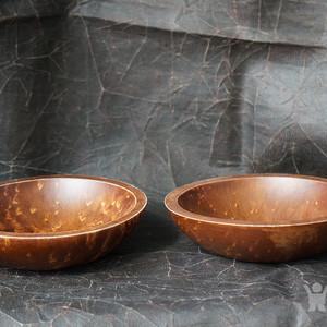 实木碗两个