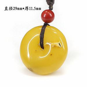 蜜蜡珠扣挂件0757