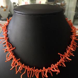 8029欧洲回流珊瑚枝随形项链