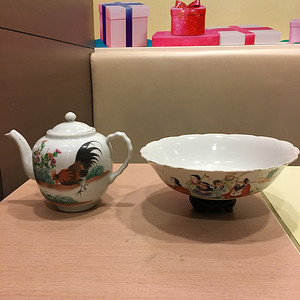 民国官窑瓷江西瓷业公司精品粉彩瓷器一加一